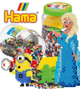 Stort udvalg af Hama perler i poser, bøtter og flotte gaveæsker..