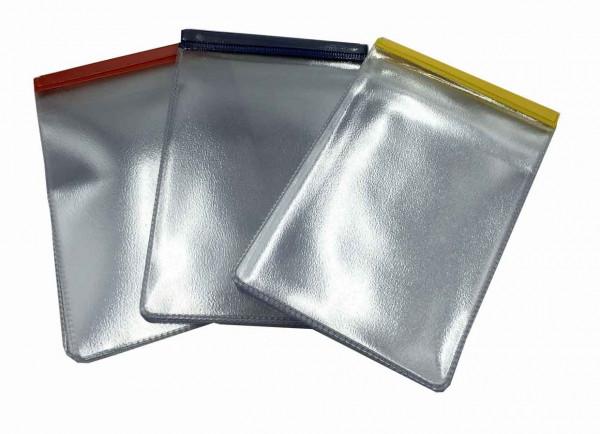 lommearkiv, bog med lommer, plejehjemsbog, brystlommebog, lommeomslag