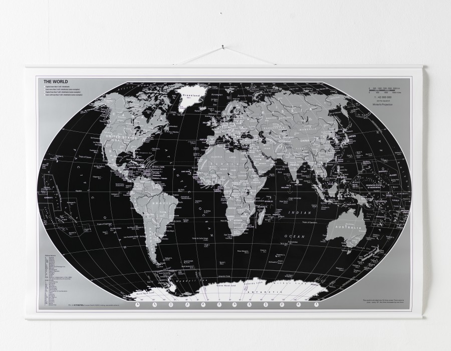 verdenskort lamineret